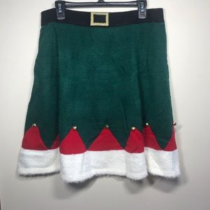 UNITED STATES SWEATERS Holiday Elf Skirt, Size XL